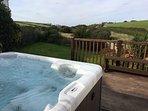 Hot-tub view down towards sea