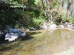 Creek by Cabin