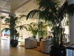 Tropical lobby area