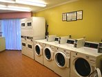 Coin operated laundry facilities available on the 1st floor of building 1