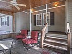 Curl up with a book on the screened-in porch.
