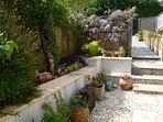 Sheltered courtyard garden