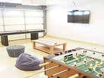 Enjoy the game room with foosball and shuffleboard!