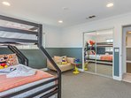 Bedroom 4: kids room with twin/full bunk bed.