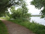Enjoy beautiful river walks or jogs along the river Corrib 2 min walk away from house.
