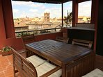 Panoramic Penthouse with Rooftop Terrace in Rome's Center