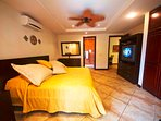 Main bedroom with king bed + private bathroom