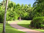 Landscaped gardens are the perfect spot for a stroll or picnic.
