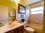 Bathroom shared by twin and queen