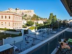 The view from the western balcony with Acropolis pedestrian zone