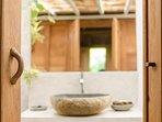 Bathroom en-suite wooden bedroom