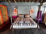 Wooden Villa master bedroom