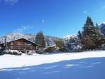 Berghaus Tirol Winter Ansicht