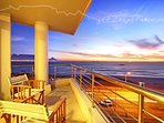 Apartment with a 'view' capture the amazing Sunsets and walks on the beach on your doorstep.