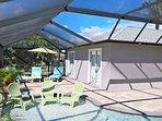 huge pool deck