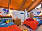 With 2 twin beds, this room is great for kids!