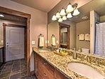 With 2 sinks, the master bathroom provides plenty of space to get ready!