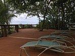Back deck overlooking ocean