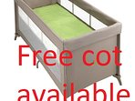 A free cot is supply on request