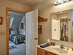 This en suite bathroom provides the utmost privacy and convenience.