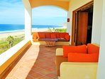 Grand East Wing 800 sq ft Terrazza w/ couch, love seat for two & bistro table & chairs