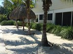 Real Sand Beach area along the canal side of the house, off dock