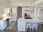 New kitchen has all new appliances, counters and accessories