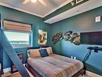 bunk room with lagoon view
