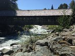Covered bridge - just a few minutes walk from Blackcomb to Whist
