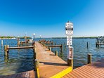 Dock your boat for free, go fishing and watch amazing sunrises from the dock.