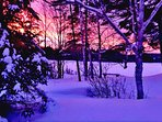 Sunsets even in winter!