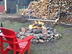 Camp fire and wood all inclusive