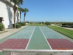 Shuffleboard courts on the Four Winds site