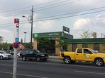 TD bank branch in the same building with No Frills, open 7 days a week, free parking. In 7 mins walk