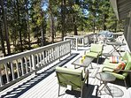 Our deck has a gas grill and many seating options