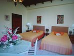 Stanhill Suite with 2 single beds with own bathroom, TV, A/C and balcony