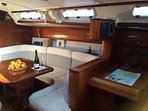Large, wide saloon with plenty of headroom