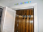 Safely store your skis, boards and boots in ML328's ski locker (located in hallway)