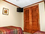 Second bedroom has flat-screen TV with free DISH Network (HD)