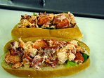 Lobster rolls from OP Subs and Groceries