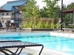 Enjoy a swim in the heated, outdoor pool