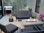 Patio with fire pit and BBQ