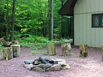 The fire pit on the side of the house - great in the cool spring and fall evenings