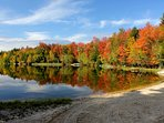 Deertrail Lake In the Fall, The lake is just a short walk from the house