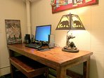 Office Area – Hi Speed Internet 24' Flat Screen Monitor and Comfortable Seating Area