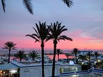 Fantastic sundown views of the port