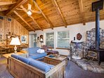 Second Family Room with Wood Stove