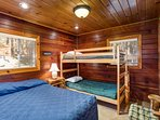 Bedroom #2 with a double and bunk set