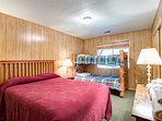 3rd Bedroom with Queen Bed and Bunk Beds - Lower Level