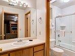 3rd Bathroom with Shower/Bathtub combination - Lower Level
